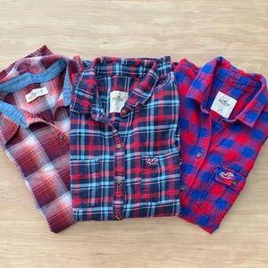 Hollister Plaid Shirts